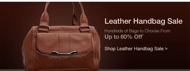 Shop Leather Handbag Sale >