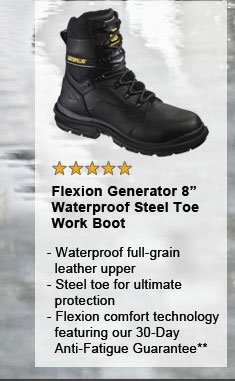 "Flexion Generator 8"" Waterproof Steel Toe"