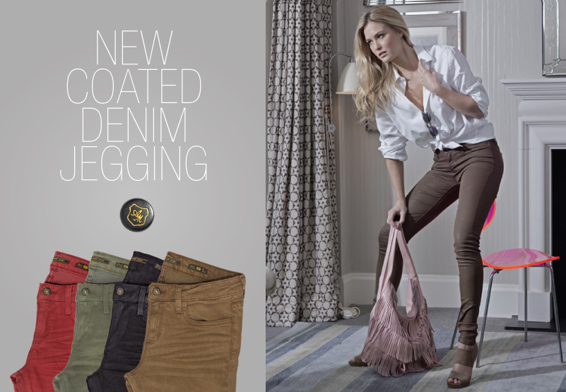 New Coated Denim Jegging
