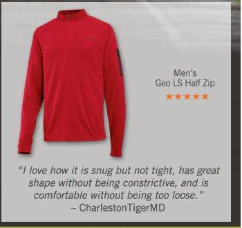 Men's Geo LS Half Zip