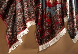 One of a Kind Antique Qum Kurk Rugs