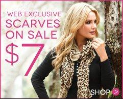 Shop the $7 Scarf Sale