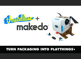 Threadless + Makedo. Turn packaging into playthings.