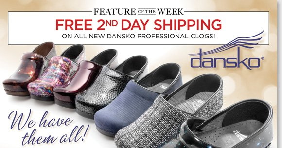 New Feature of the Week! Shop 14 fun NEW Dansko Professional Clog styles for fall and enjoy FREE 2nd Day Shipping*! Plus, save on more great styles from Dansko, Umberto Raffini, UGG® Australia, MBT and more during our $99 & Under Fall Shoe Sale! Shop now for the best selection at The Walking Company.