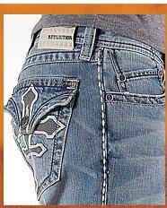 Shop Affliction Black Premium Grant Tapestry Jean