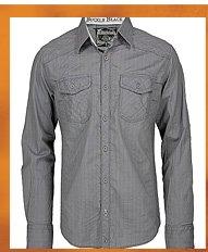 Shop Buckle Black Pinstripe Shirt