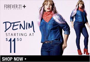 F21 PLUS Denim Starting at $11.50 - Shop Now