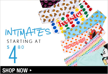 Intimates Starting at $4.80