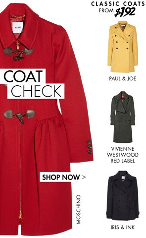 CLASSIC COATS FROM £108 SHOP NOW  width=