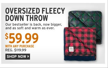 Oversized Fleecy Down Throw