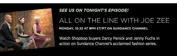 See us tonight on All on the Line with Joe Zee!