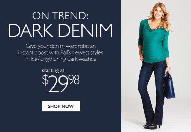 On Trend: Dark Denim
