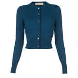 Paul Smith Knitwear - Turquoise Cropped Cardigan