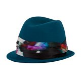 Paul Smith Hats - Teal Electric Peony Trilby Hat