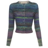 Paul Smith Knitwear - Cropped Impressionist Stripe Print Cardigan