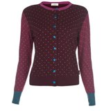Paul Smith Knitwear - Burgundy Polka Dot Cardigan