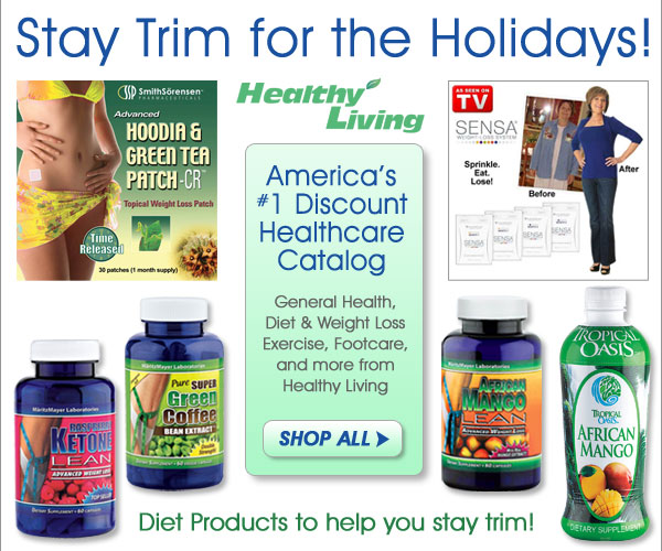 Stay trim for the holidays! Shop all Diet & Exercise Products from Healthy Living - America's Number One Healthcare Catalog