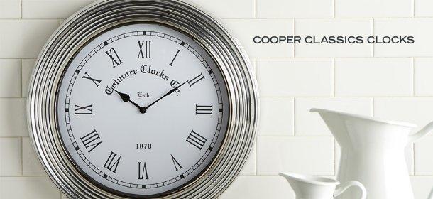 COOPER CLASSICS CLOCKS, Event Ends October 25, 9:00 AM PT >