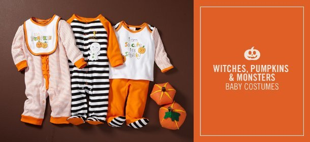 WITCHES, PUMPKINS & MONSTERS: BABY COSTUMES, Event Ends October 25, 9:00 AM PT >