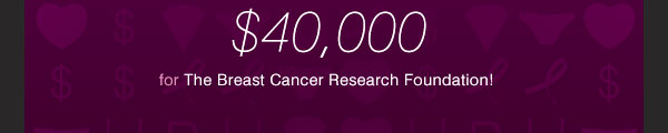 $40,000 for The Breast Cancer Research Foundation!