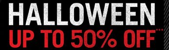 HALLOWEEN UP TO 50% OFF***