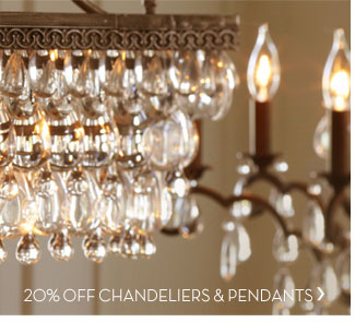 20% OFF CHANDELIERS & PENDANTS