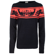 Paul Smith Knitwear - Navy Neon Fair Isle Jumper