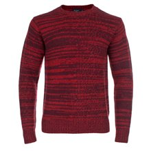 Paul Smith Knitwear - Burgundy And Red Twisted Merino Wool Jumper