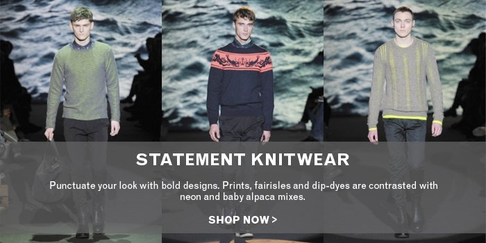 Statement Knitwear -  SHOP NOW>