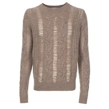 Paul Smith Knitwear - Taupe Laddered Knit Jumper