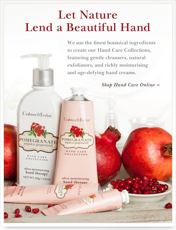 Let Nature Lend a Beautiful Hand. Shop Hand Care Online.