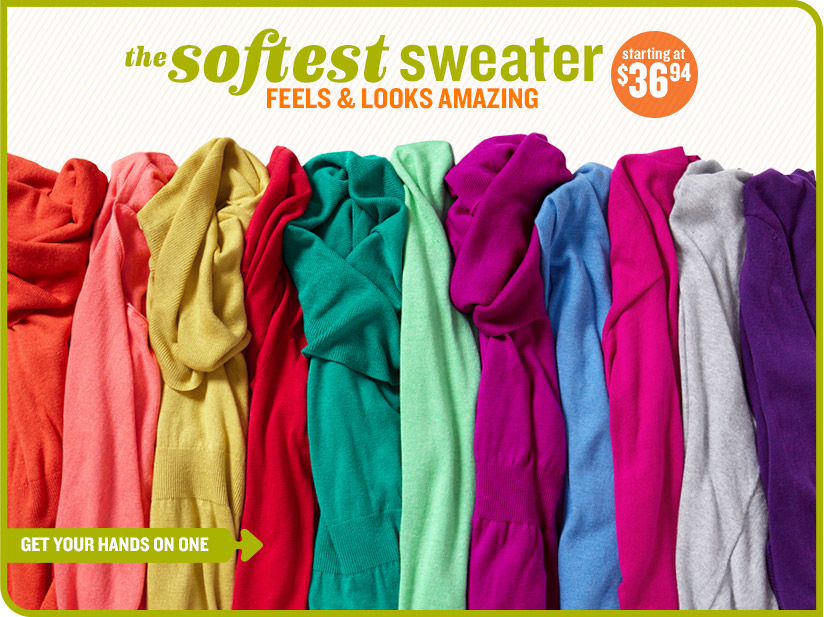the softest sweater | FEELS & LOOKS AMAZING | starting at $36.94 | GET YOUR HANDS ON ONE