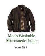 Men's Washable Microsuede Jacket, from $99