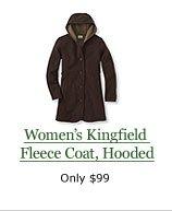 Women's Kingfield Fleece Coat, Hooded, $99