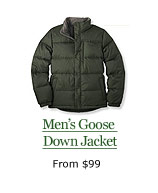 Men's Goose Down Jacket, from $99
