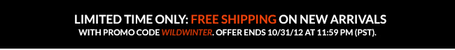 Free Shipping on New Arrivals