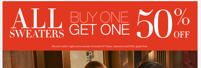 Be the first to shop our NEW Fall Sweater Collection. Plus, use this in-store & online coupon!