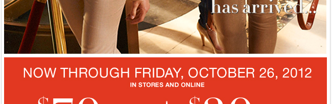 Use this coupon through October 26th! Shop NOW!