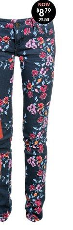 Scattered Floral Skinny Jean