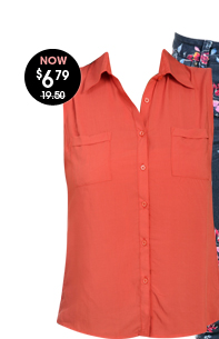 Open Back Collard Shirt