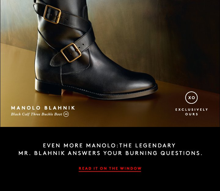 A classic riding boot gets a makeover in Manolo Blahnik's fall footwear.