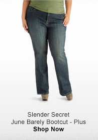 SLENDER SECRET JUNE BARELY BOOTCUT - PLUS SHOP NOW