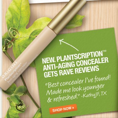 NEW PLANTSCRIPTION ANTI AGING CONCEALER GETS RAVE REVIEWS Best concealer I have found Made me look younger and refreshed KathyJF TX SHOP NOW