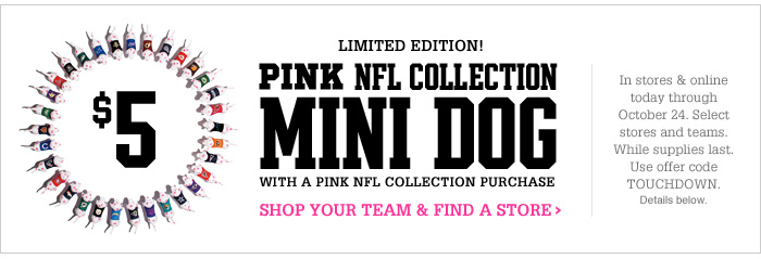 PINK NFL Collection Mini Dog