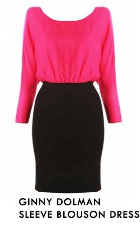 Ginny Dolman Sleeve Blouson Dress