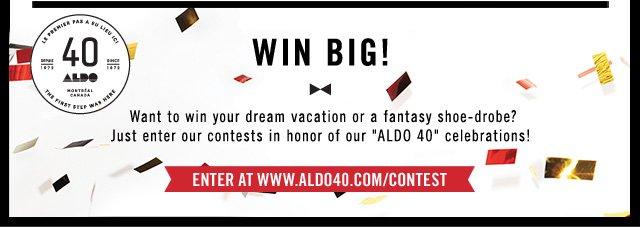 ALDO 40 Contest at www.aldo40.com/contest