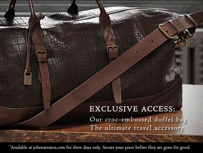 Exclusively at johnvarvatos.com - three days only