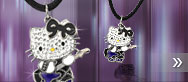 Hello Kitty Rock Guitar Pendant