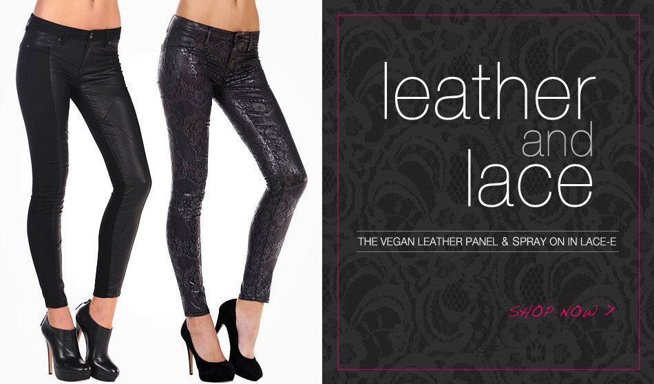 Leather And Lace - Featuring The Vegan Leather Panel And Spray On In Lace-e
