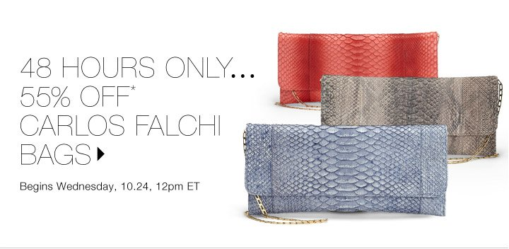 55% Off* Carlos Falchi Bags...Shop now